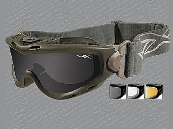 Spear - Smoke Grey, Clear and Light Rust Lenses with Foliage Green Frame
